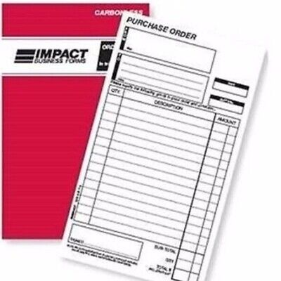 1 x Impact Purchase Order Book 203x127 Carbonless Duplicate SB320*