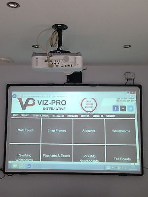 """2in1 Projection Screen and Drywipe Whiteboard 78"""" Diagonal Size. High Quality!"""