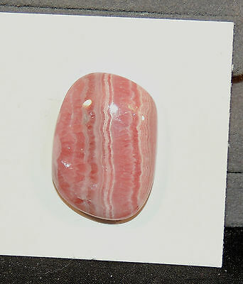 Pink Rhodochrosite Cabochon 26x18mm with 7mm dome (6340)