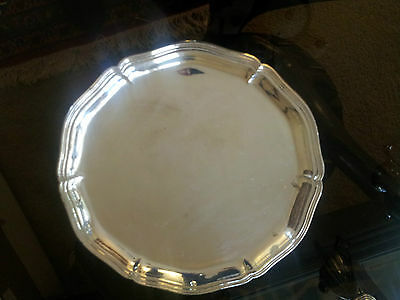A German 800 Silver Tray In Rococo Style About 30 Oz