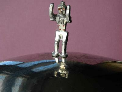 VINTAGE 1950s CHERILEA RARE LEAD SPACE SERIES MECHANICAL MAN METALLIC TOY ROBOT