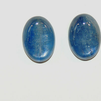 Kyanite 10x14mm with 4mm dome Cabochons Set of 2 (6570)