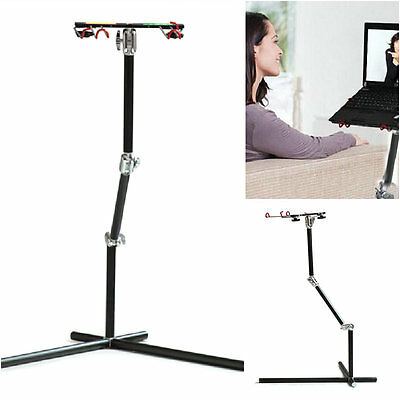 Black Aluminum Rotatable Laptop Universal Adjust Stand With mouse Pad Desk Table