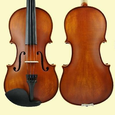 New Natural Violin/fiddle ~Full Size 4/4~W/ Case & Bow Free Shipping -022#