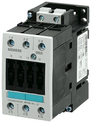 Siemens 3RT1034-1BB42 32 AMP 3 Pole contactor with a 24 volt DC coil.