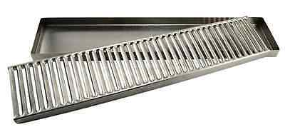 "Countertop Drip Tray Stainless Steel 19""L-Draft Beer, Coffee, Beverage NEW!"