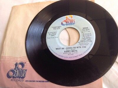 Barry White Mint Promo 45(1975)-What Am I Gonna Do With You