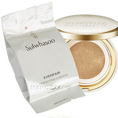 Sulwhasoo Perfecting Cushion Refill Makeup Foundation Amore Pacific Upgraded New