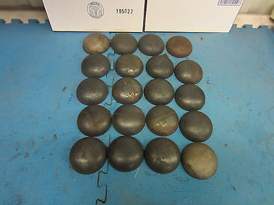 Pipe Caps:  steel, domed, weld on size 3-1/2 inch Outside Diameter. Lot of 20
