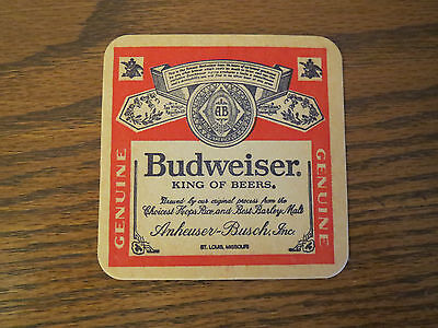 12 1970's 1980's Budweiser King Beers Coaster Heavy Cardboard Bar Bud For You