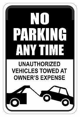 """No Parking Anytime Sign 12"""" x 18"""" No Rust Heavy Gauge Aluminum Signs"""