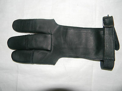 Archers Leather Shooting 3 Fingers With Buckle Glove