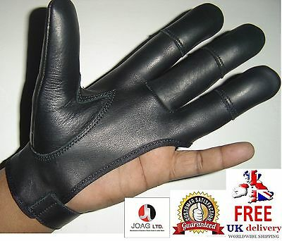 Archers, Leather Shooting 4 Finger Glove ( Left Hand Glove ) Hunting, Bow Gloves