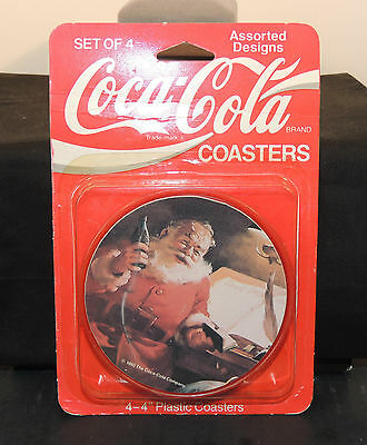 1992 Coca-Cola Plastic Coasters in original Package 4 inches wide (6592)