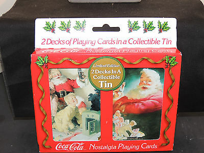1996 Coca-Cola Tin and Playing Card Set (6592)