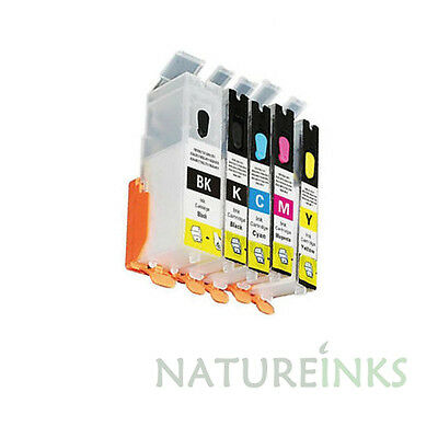 5 Refill Refillable Ink Cartridges to replace Canon PIXMA IP7250 iX6850 iP8750
