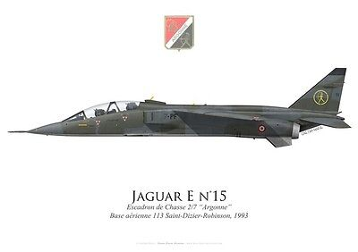 "Print SEPECAT Jaguar E, EC 2/7 ""Argonne"", French Air Force, 1993 (par G. Marie)"