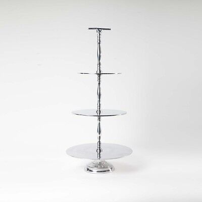 Beautiful Aluminium 3 Tier Cake Stand - 61Cm Tall Cup Cakes Or Wedding Cake!