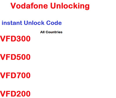 Unlocking Unlock Code Vodafone Smart First 6 Speed V695 V785 VFD200 V200 V795