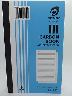 Olympic #604 Carbon Book Duplicate 100P 200x125mm 140851*