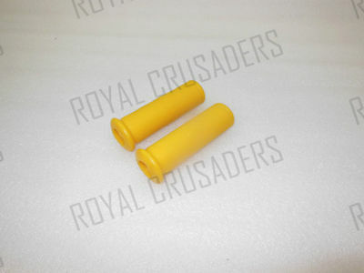 NEW VESPA RUBBER HAND GRIP COVER SET 22mm VBA / VBB YELLOW