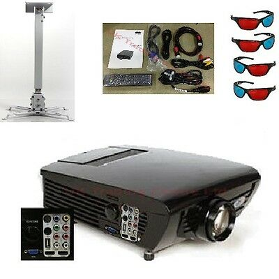 LED Projector Support Full HD 1080p 3D DTV HDMI bundle Ceiling Mount Bracket