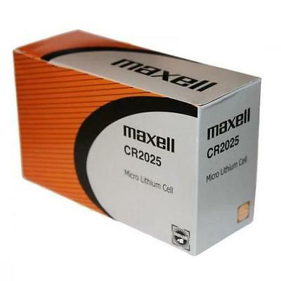 25pc GENUINE MAXELL CR2025 2025 LITHIUM BUTTON COIN CELLS BATTERIES Battery 3V