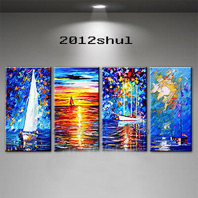 Details about  Large Modern Wall Decor 100% artist hand-painted Oil Painting can