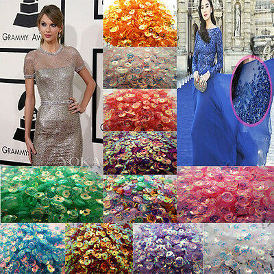 NEW DIY Oval Round loose sequins Paillettes sewing Wedding craft many color pick
