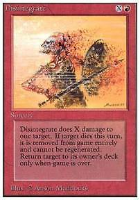 MTG UNLIMITED - DISINTEGRATE - Excellent