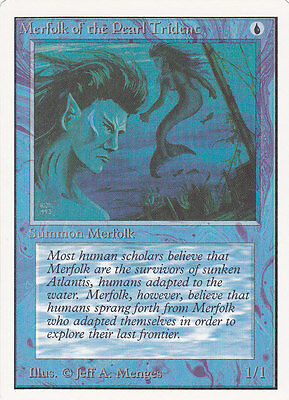 MTG UNLIMITED - MERFOLK OF THE PEARL TRIDENT - Very Good