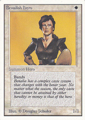 MTG UNLIMITED - BENALISH HERO - Near Mint