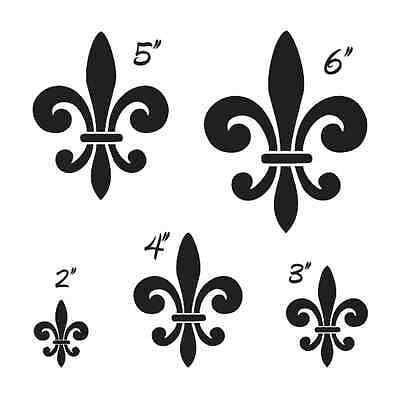 "Fleur de lis #1 STENCIL 2"" 3"" 4"" 5"" 6"" For Signs Scrapbook Craft Shabby French"