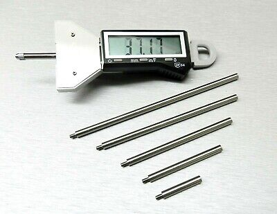 "IGAGING DIGITAL DEPTH GAUGE & INDICATOR GAGE 0-16"" RANG E3-WAY Inch MM Fractions"