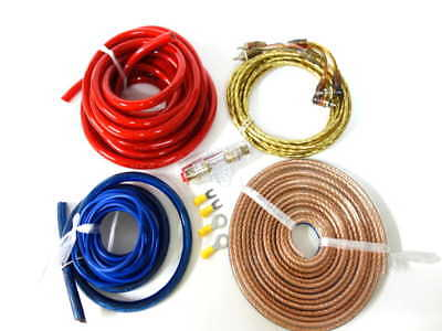 High Quality Car Amplifier Power Wire Wiring Amp Kit 4 Gauge 2-5 Days Postage