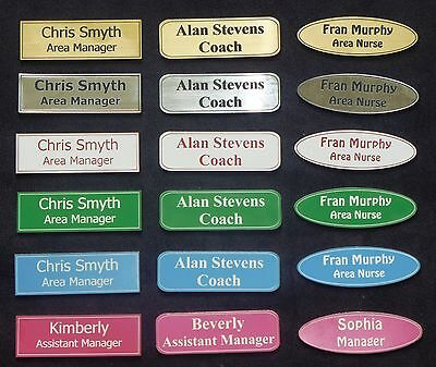 Personalised Name / ID Badges - Various Colours Available