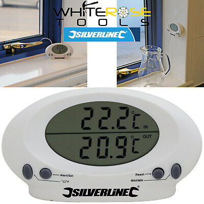 Silverline 675133 Digital Indoor Outdoor Thermometer Temperature Gauge Sensor