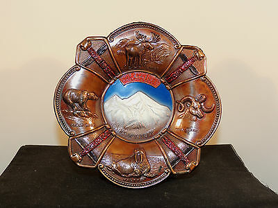 Alaska Souvenir Hanging Plate over 5 inches wide (5800)