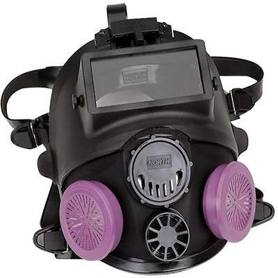 North 7600 Series Full Facepiece Respirator with Welding Attachment- Med/Lg NEW!