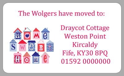 New Address House Home Stickers We Have Moved To Labels Personalised C