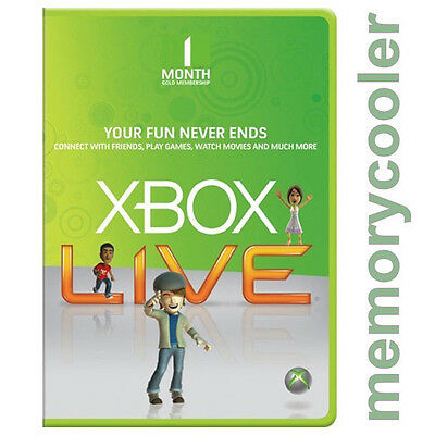 1 Month Xbox Live Gold Membership for Microsoft Xbox One / Xbox 360 Instant - UK