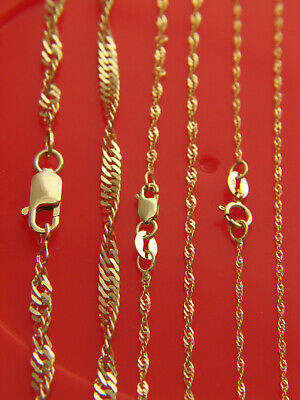 Real 10k YELLOW GOLD CHAINS FIGARO,CURB,ANCHOR,ROPE NECKLACE