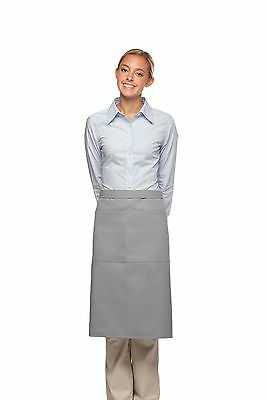 Daystar Apron 1 Style 124 two pocket full bistro apron w/divides ~ Made in USA