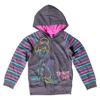 Disney TINKERBELL TINK Tinkerbell  ~ Zip Up HOODIE ~ Girl's XS  (4/5) ~ NWT