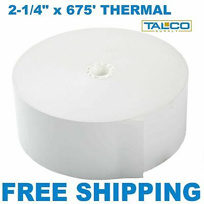 "ATM 2 1/4"" x 675' THERMAL RECEIPT PAPER - 2 NEW ROLLS *FREE SHIPPING*"
