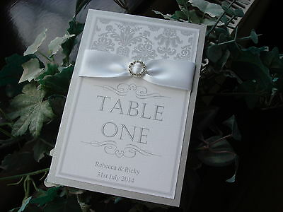 Wedding Table Number - Silver or Gold Colour