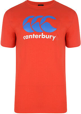 Tee shirt rugby Logo CCC canterbury rouge bleu  Neuf Taille L