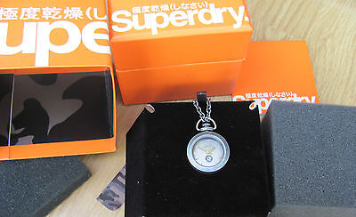 Ladies Superdry pendant pocket watch. Gold or Silver. Christmas gift RRP £95 NEW