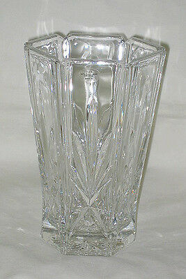 Avon Gorham Cut Lead Crystal Pineapple Leaves Design Vase