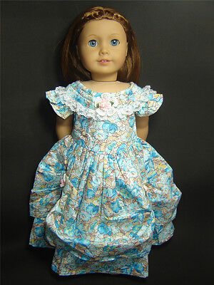Handmade Doll Clothes for 18'' American Girl Dolls Colonial Party Dress AG054